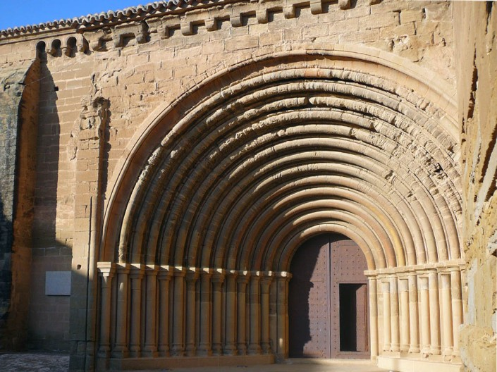 Portada del monasterio de Sijena